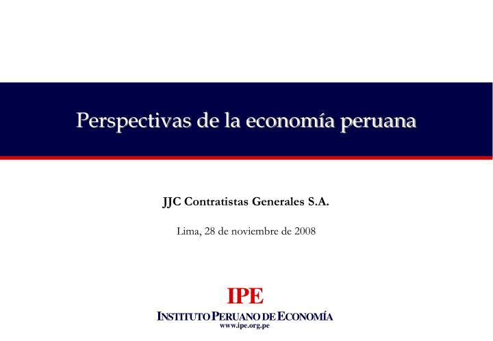 Perspectivas de la economía peruana