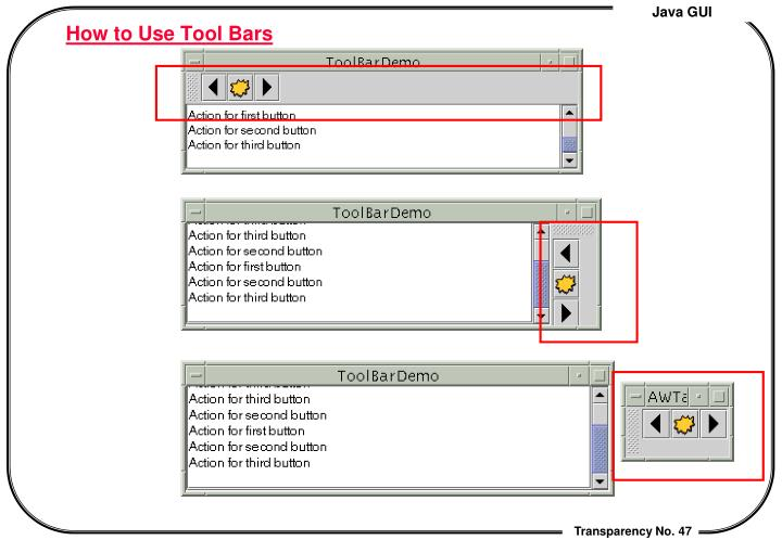 How to Use Tool Bars
