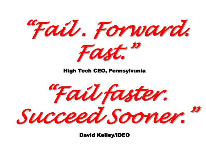 Fail . Forward. Fast.