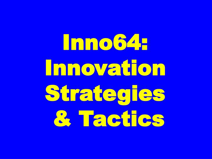 Inno64: Innovation Strategies