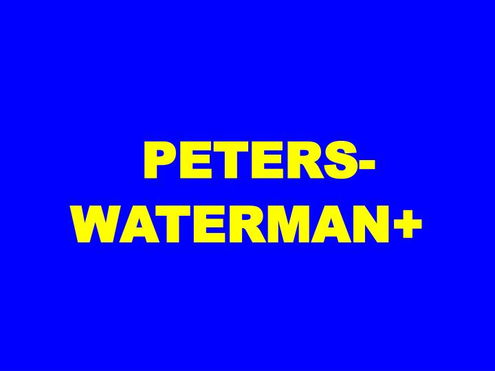PETERS-WATERMAN+