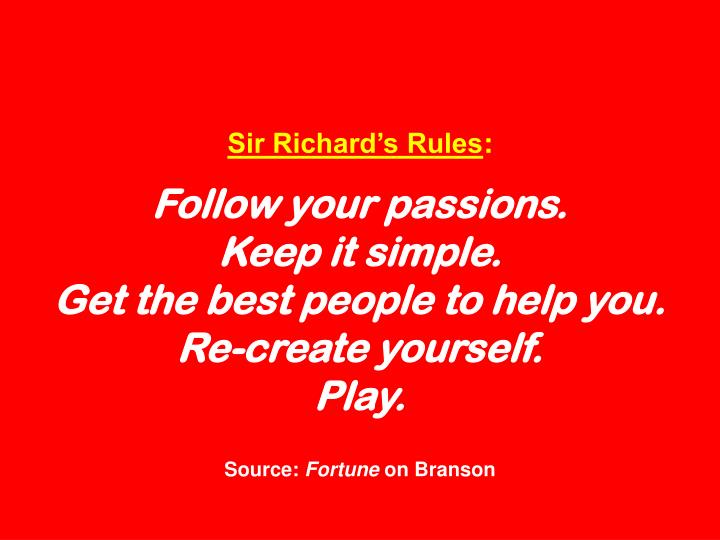 Sir Richards Rules