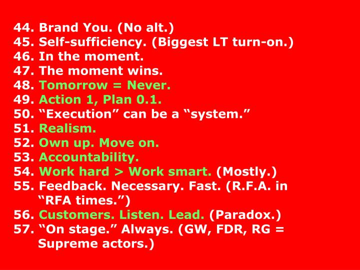 44. Brand You. (No alt.)