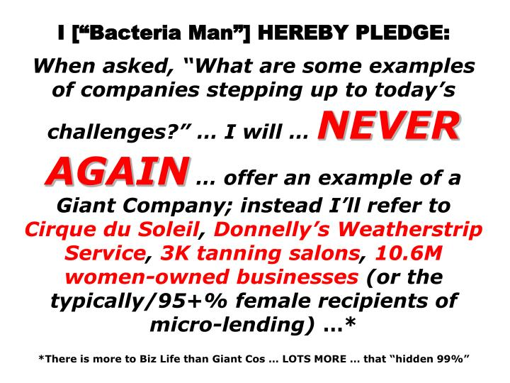 I [Bacteria Man] HEREBY PLEDGE: