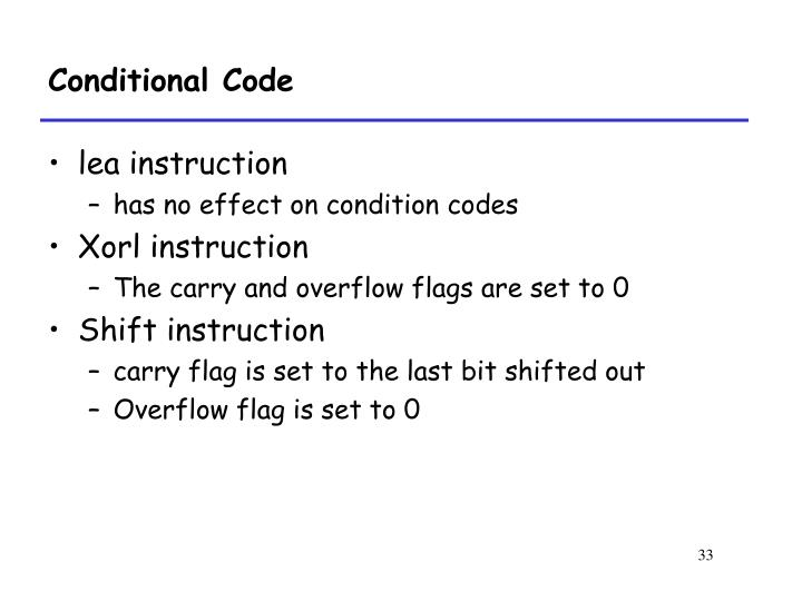 Conditional Code