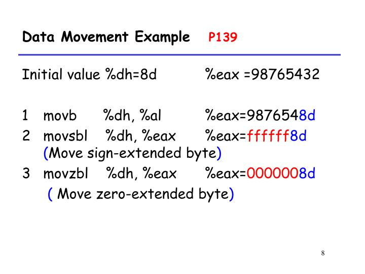 Data Movement Example
