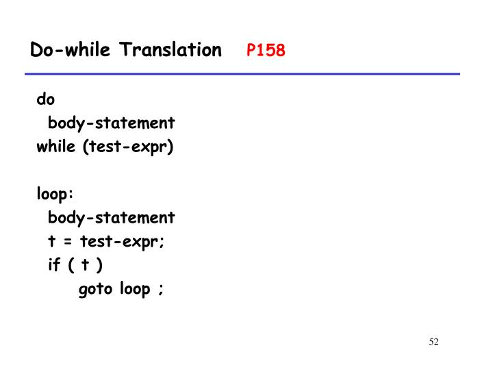 Do-while Translation