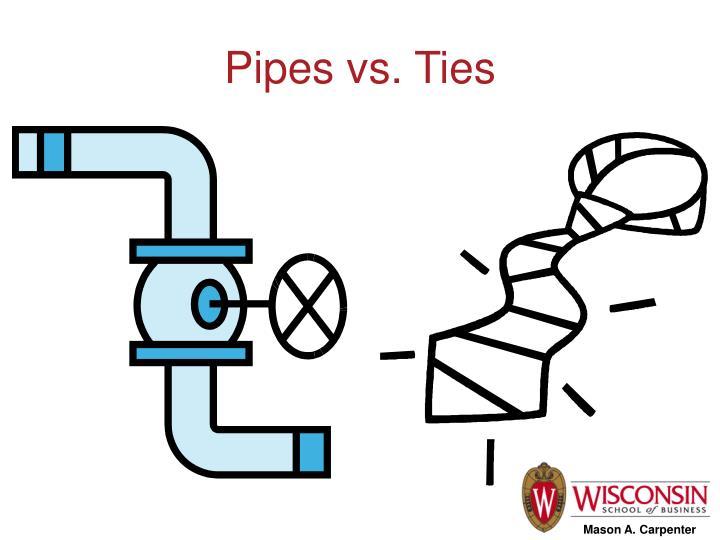 Pipes vs. Ties