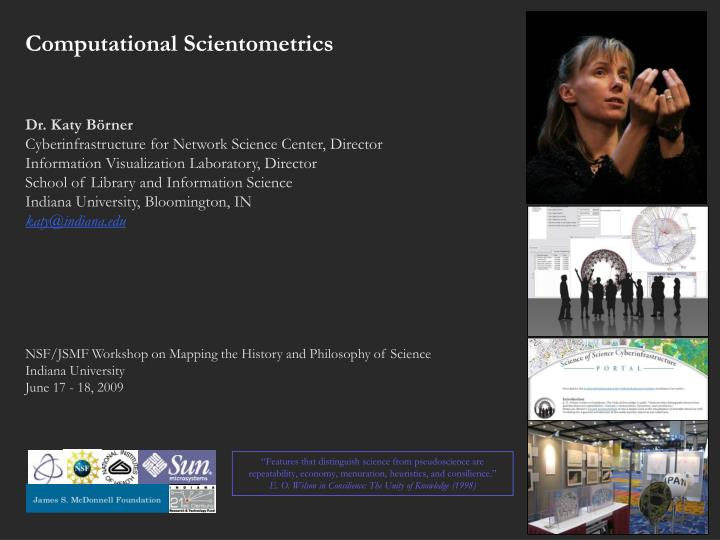 Computational Scientometrics