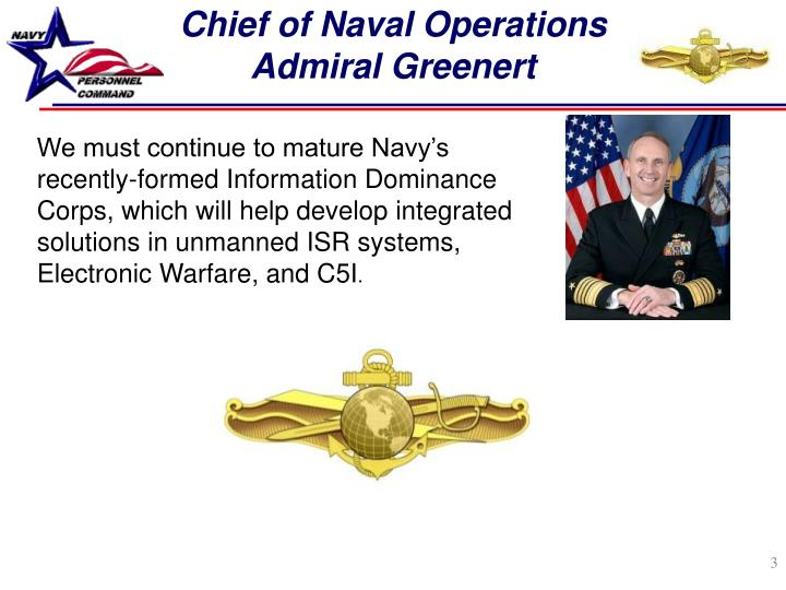 Chief of naval operations admiral greenert