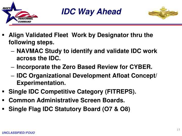 IDC Way Ahead