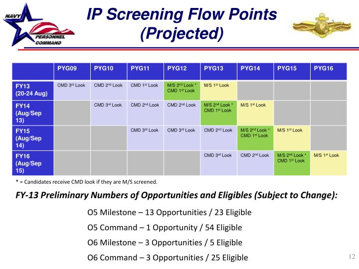IP Screening Flow Points (Projected)