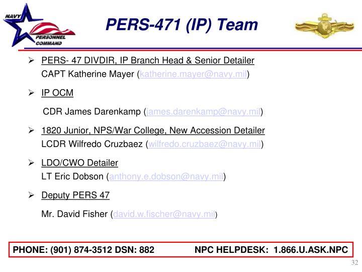 PERS-471 (IP) Team