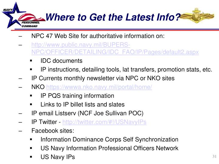 Where to Get the Latest Info?