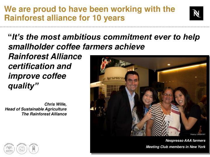 Nespresso AAA farmers
