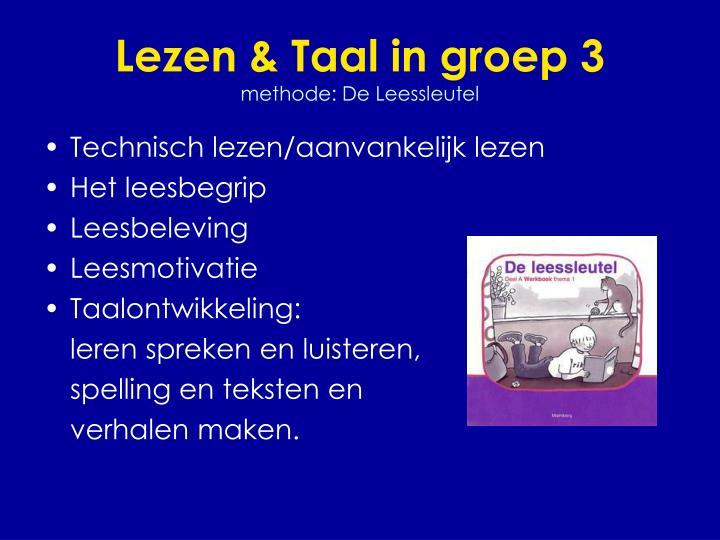 Lezen & Taal in groep 3