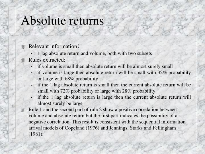 Absolute returns