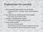 explanations for causality