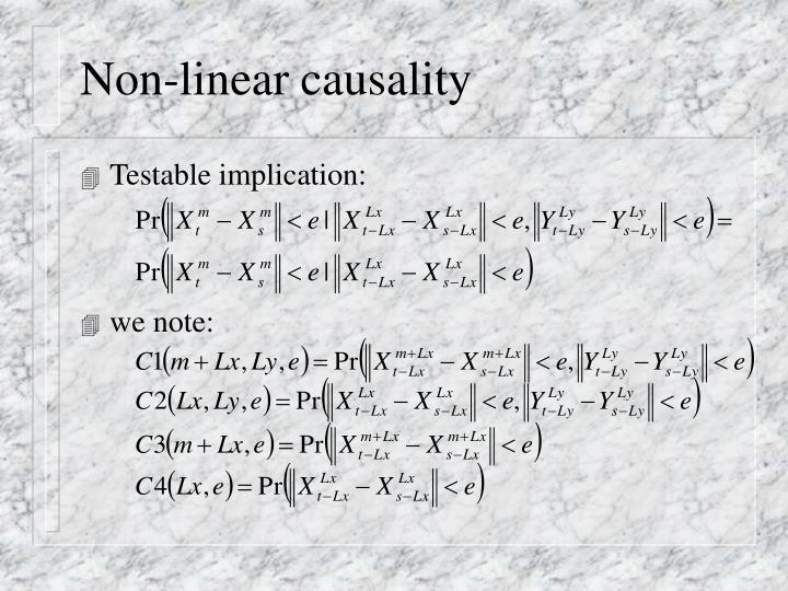 Non-linear causality