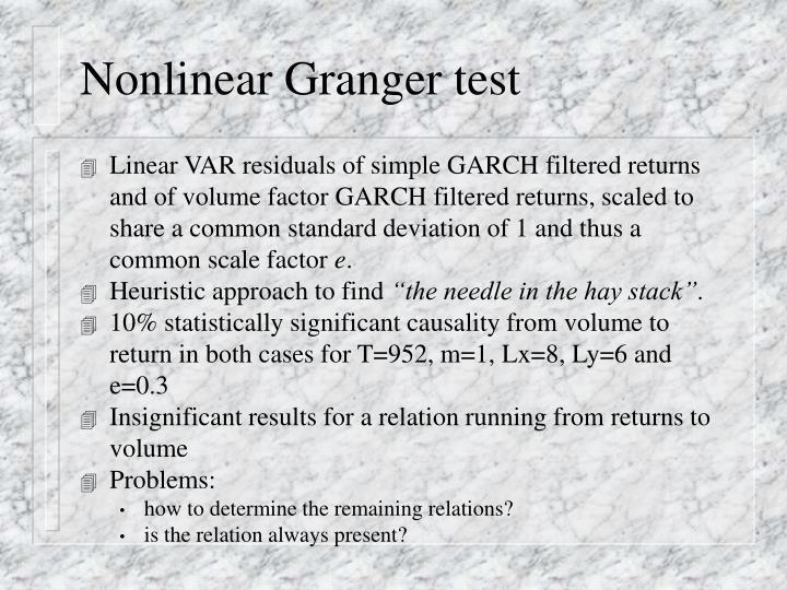 Nonlinear Granger test