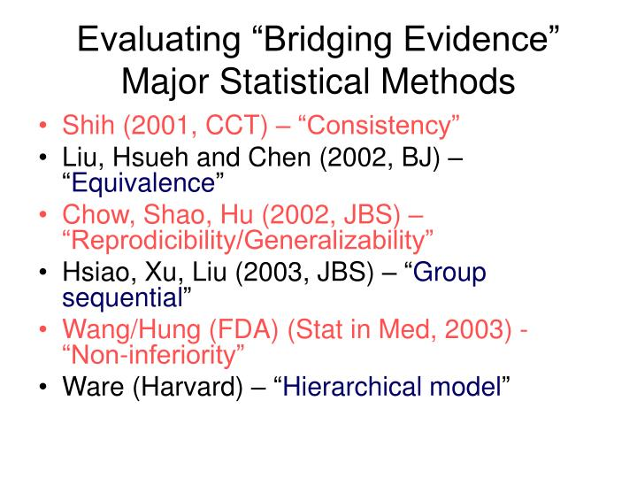 "Evaluating ""Bridging Evidence"""