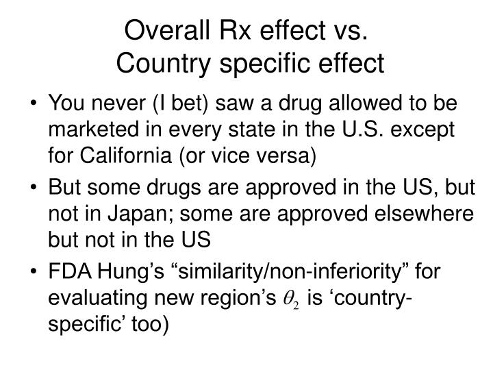 Overall Rx effect vs.