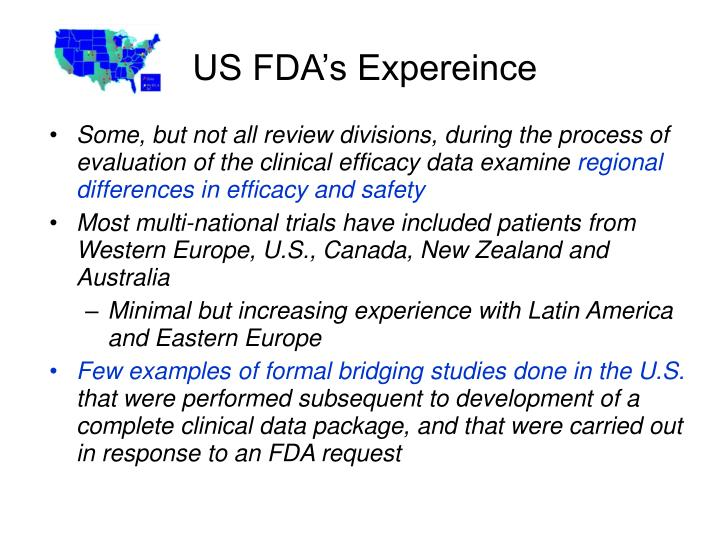 US FDA's Expereince