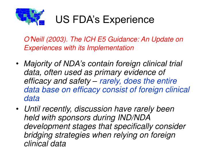 US FDA's Experience