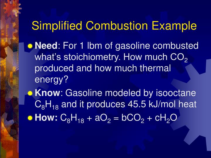 Simplified Combustion Example