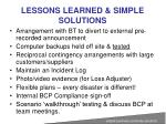 lessons learned simple solutions2