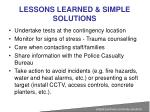 lessons learned simple solutions3