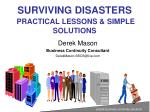 surviving disasters practical lessons simple solutions