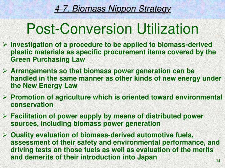 4-7. Biomass Nippon Strategy