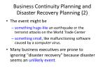 business continuity planning and disaster recovery planning 2