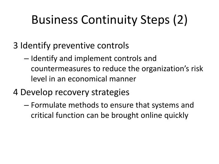 Business Continuity Steps (2)