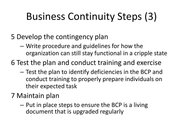 Business Continuity Steps (3)