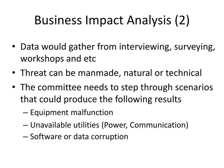 Business Impact Analysis (2)