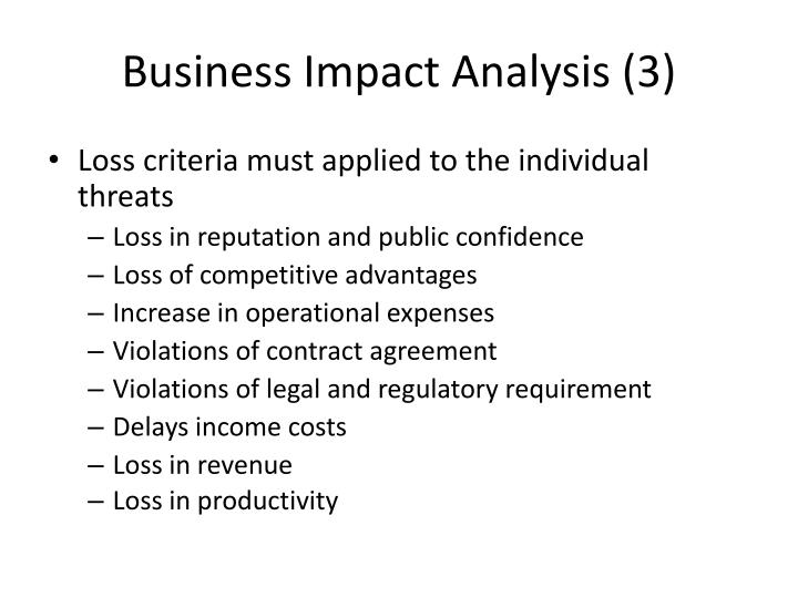 Business Impact Analysis (3)
