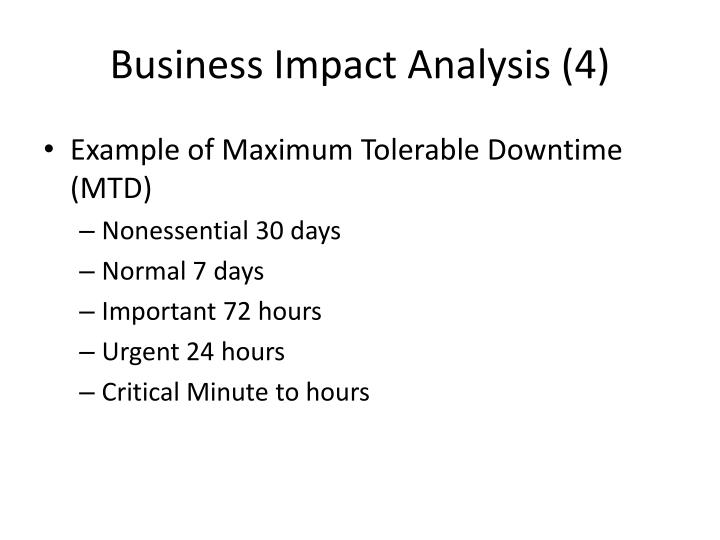 Business Impact Analysis (4)
