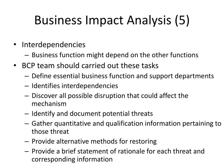 Business Impact Analysis (5)
