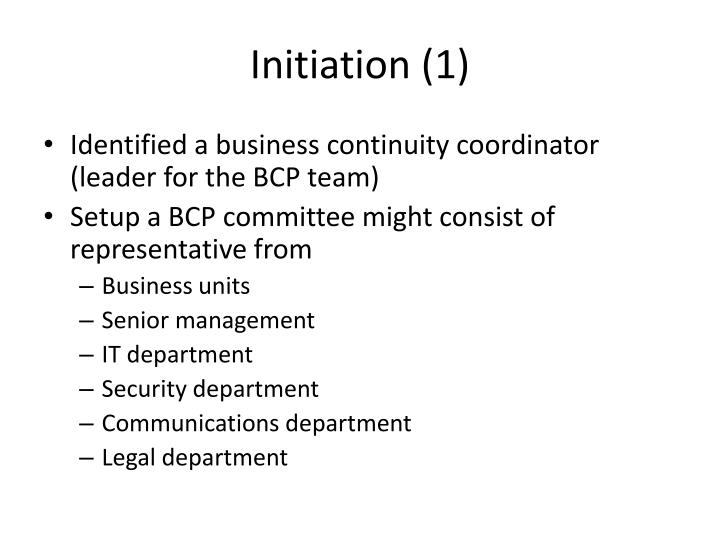 Initiation (1)