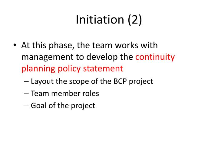 Initiation (2)