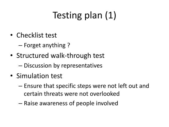 Testing plan (1)
