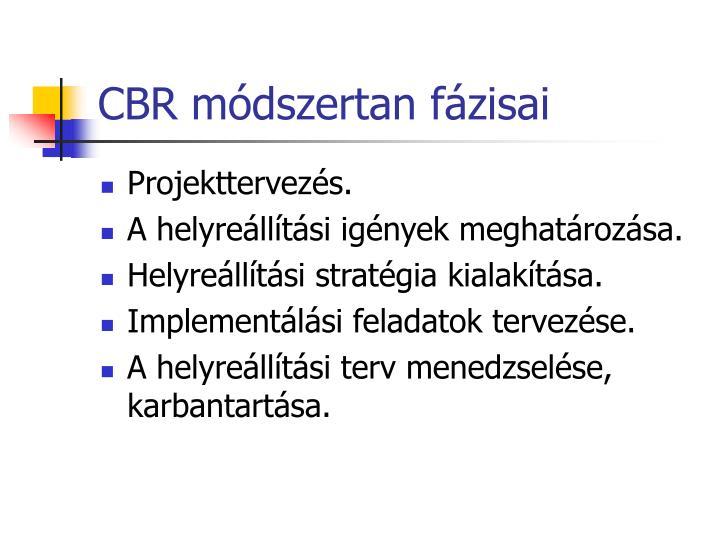 CBR módszertan fázisai