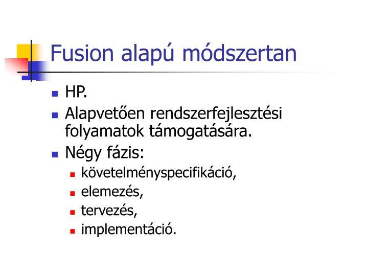 Fusion alapú módszertan