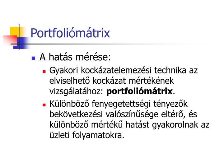 Portfoliómátrix