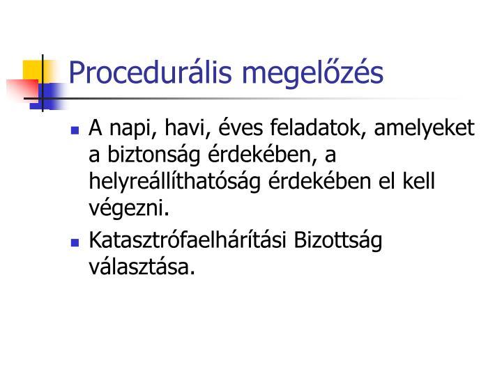 Procedurális megelőzés