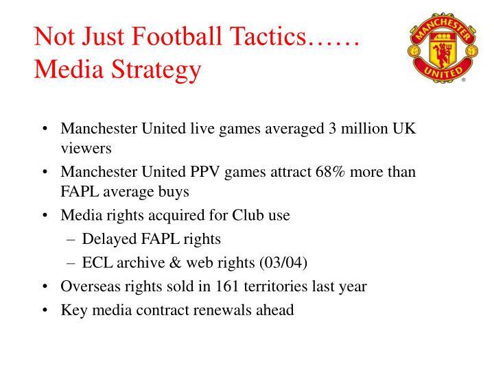 Not Just Football Tactics……