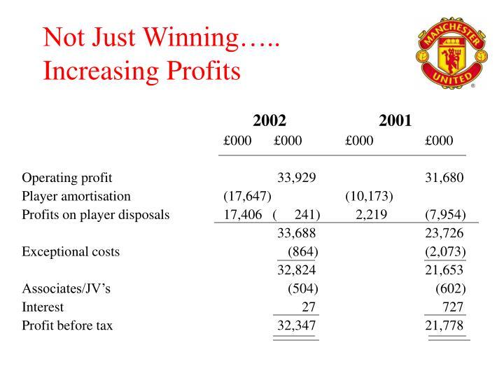 Not Just Winning…..