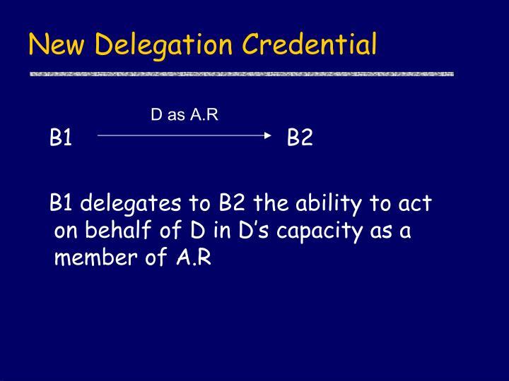 New Delegation Credential